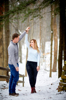 Emily & Brett: Winter Engagement in Brecksville Reservation