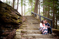 Christy and Casey: Engagement Session at Squaw Rock in Cleveland