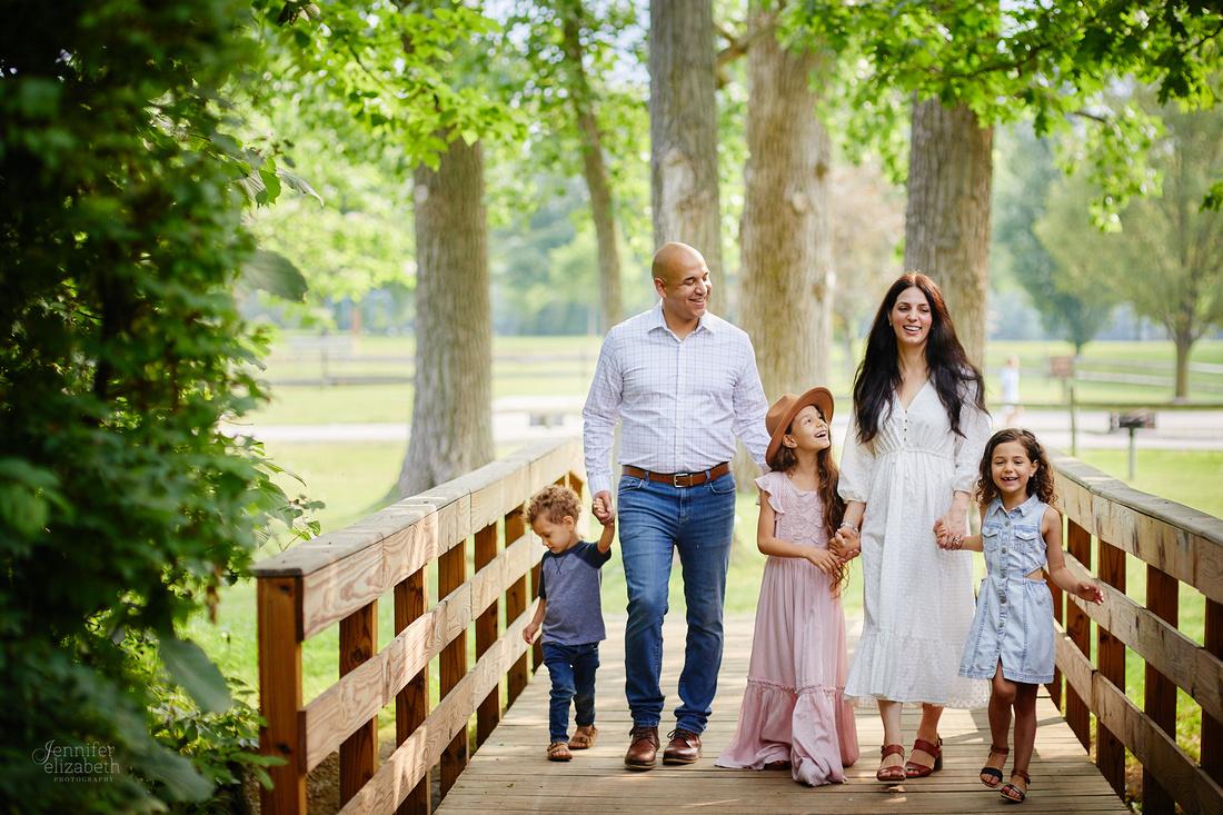 The S Family: Portrait Session at Hudson Springs Park