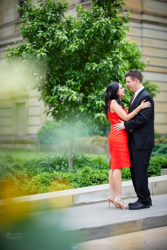 Sophia & Brian: Engagement Session in Downtown Cleveland and Edgewater Beach