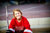 Katie: Senior Portrait Session in Old Worthington and at Nationwide Arena