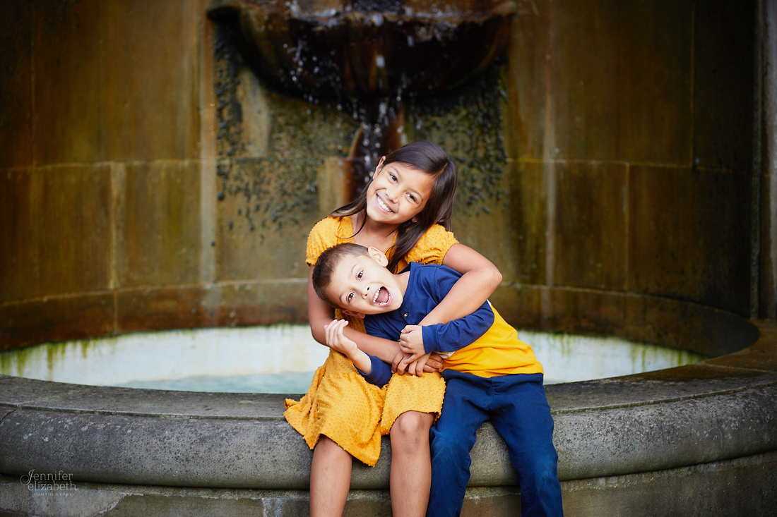 The G Family: Portrait Session at the Italian Cultural Garden in Cleveland