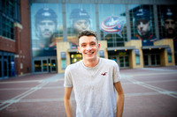 Ian: Senior Portrait Session at Nationwide Arena