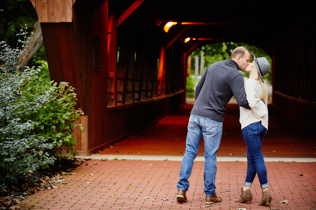 Brittany & Kyle: Engagement Session at David Fortier Park in Olmsted Falls