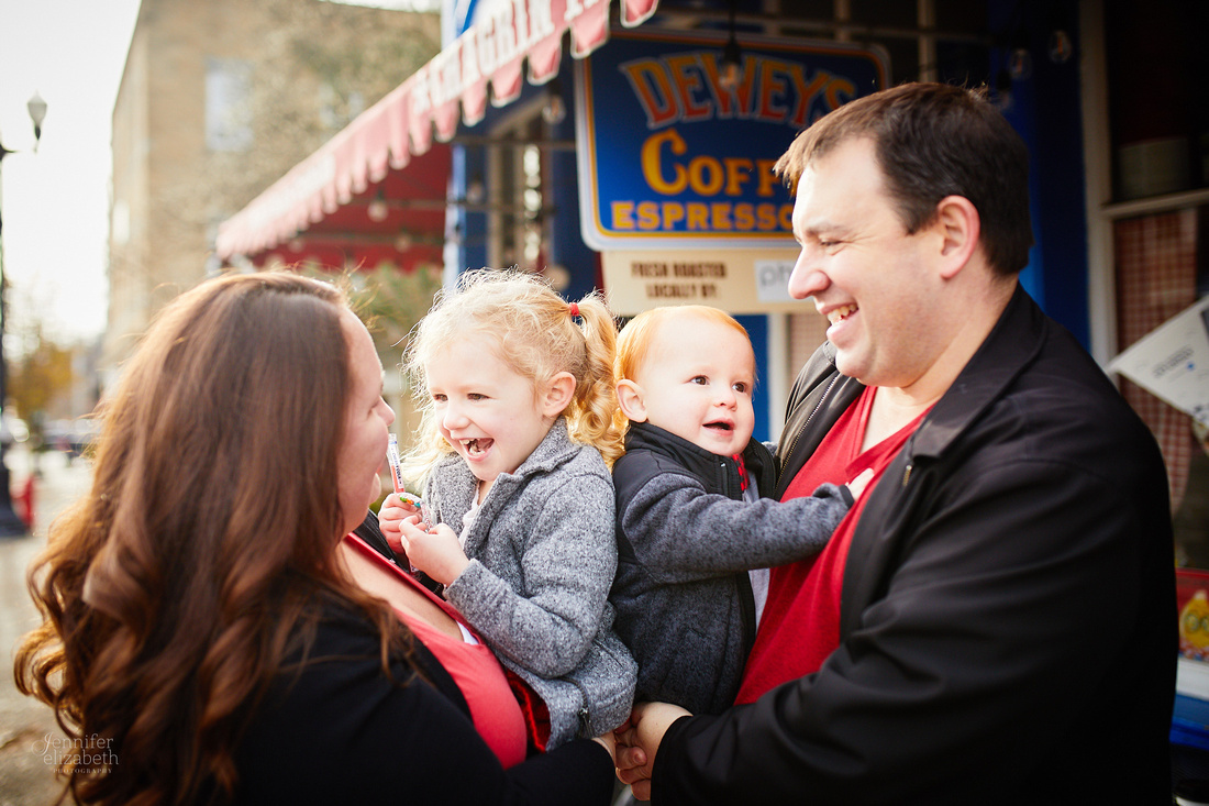 The D Family: Holiday Portrait Session in Chagrin Falls