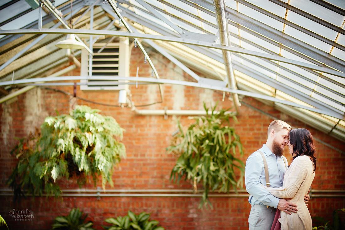 Stephanie & Garrick: Engagement at Rockefeller Park Greenhouse