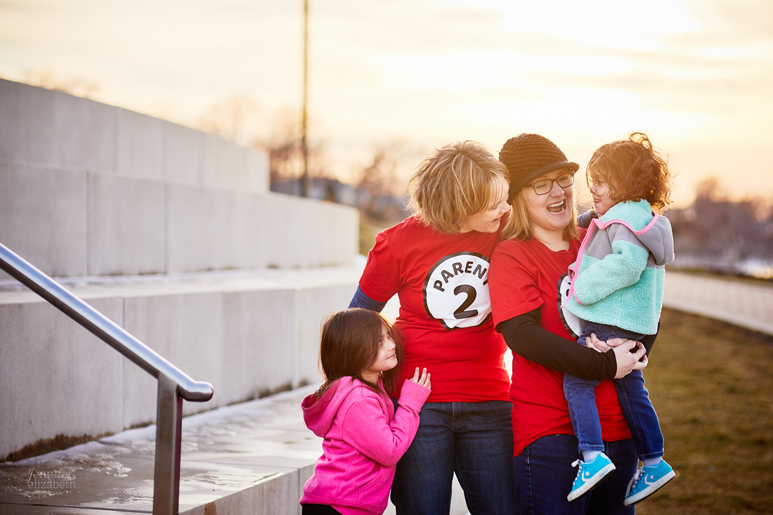 The S/J Family: Portrait Session at Lakewood Park in Cleveland