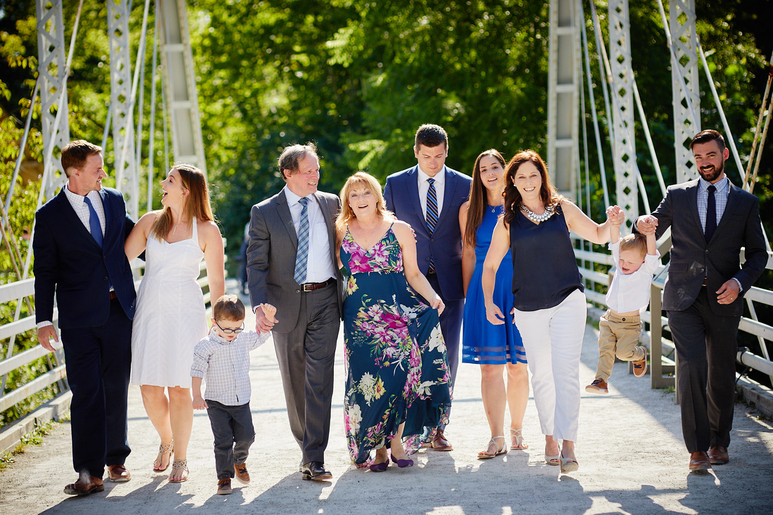 The C Family: Portrait Session at Station Road Bridge