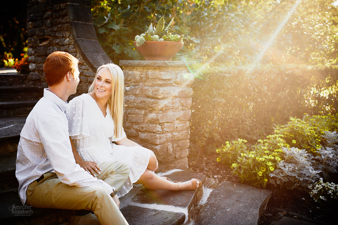 Erica & Grant: Engagement Session at Kingwood Center Gardens