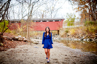 Sophia: Senior Portrait Session at Everett Road Covered Bridge