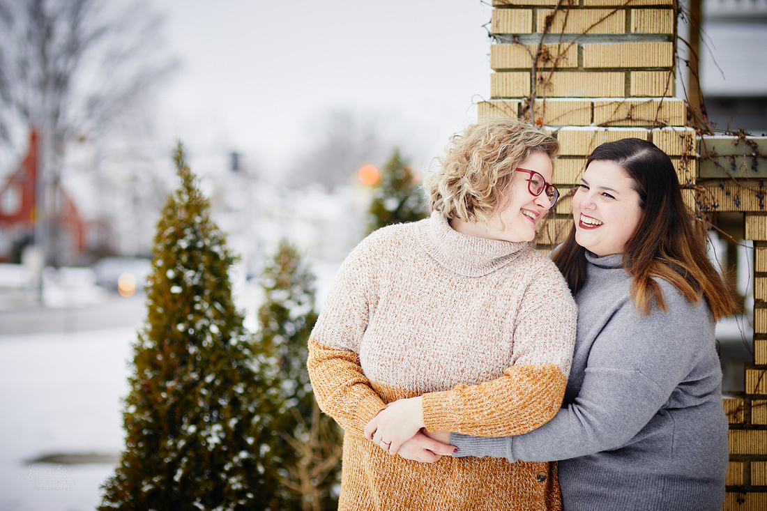 Allison & Taylor: Engagement Session in Lakewood, Ohio