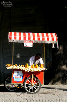 Roasted Corn in Istanbul, Turkey