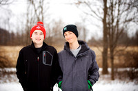 The W Family Winter Portrait Session in Akron Ohio