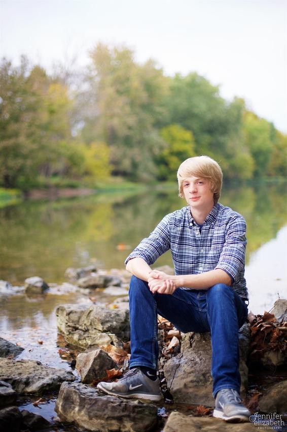 Sam: Senior Portrait Session in Worthington, Ohio