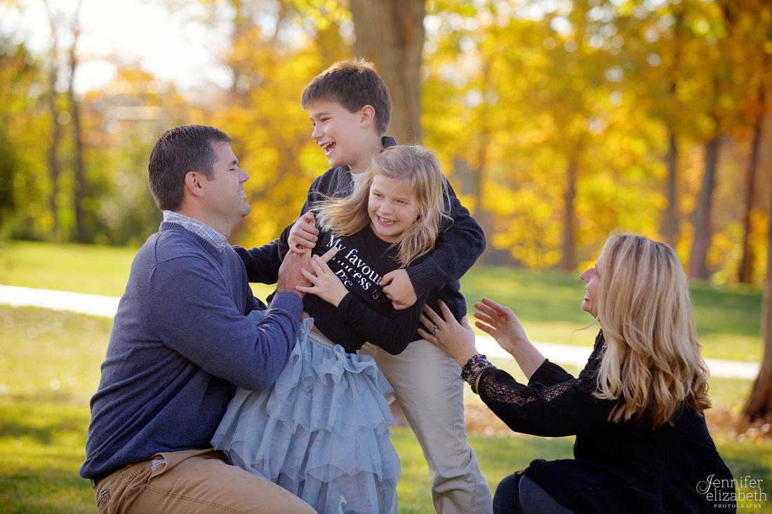Fall Family Portrait Session in Granville, Ohio near Columbus