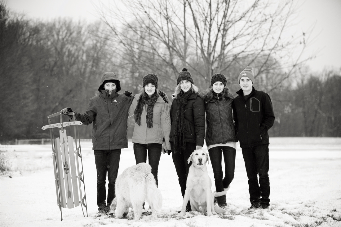 The W Family Winter Portrait Session in Akron Ohio