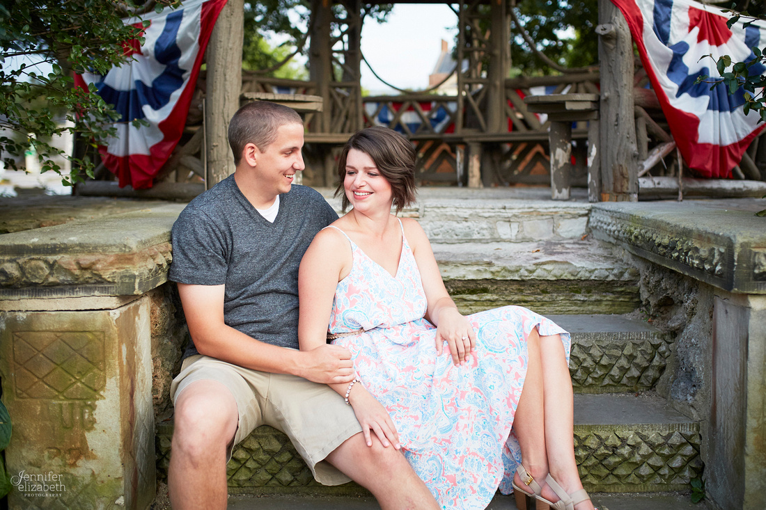 Brooke and Kevin's Engagement Portrait Session in Chagrin Falls
