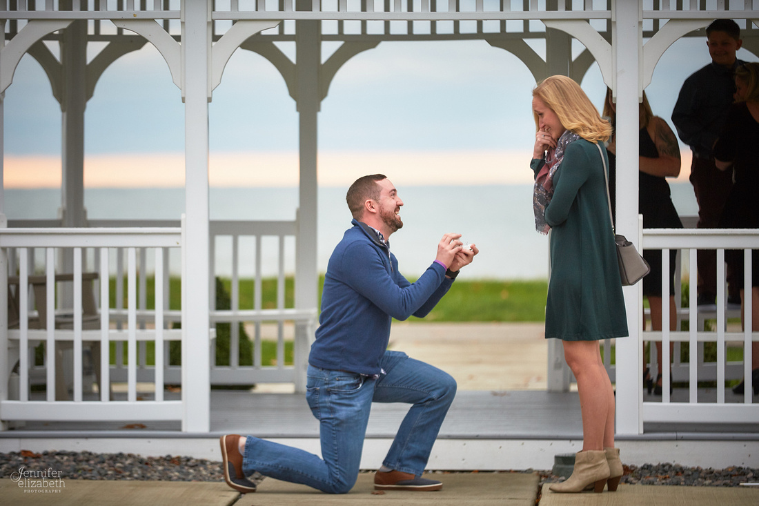 Emily and Colin: Proposal at Geneva on the Lake