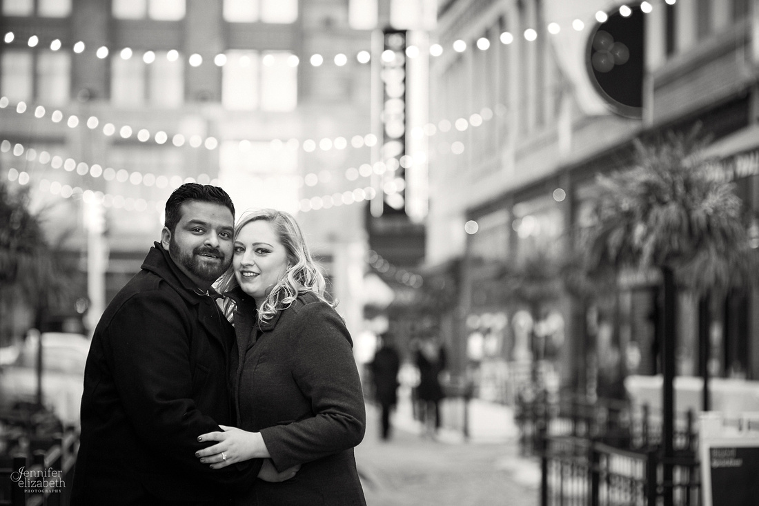Abby & Brandon: Downtown Cleveland Winter Engagement