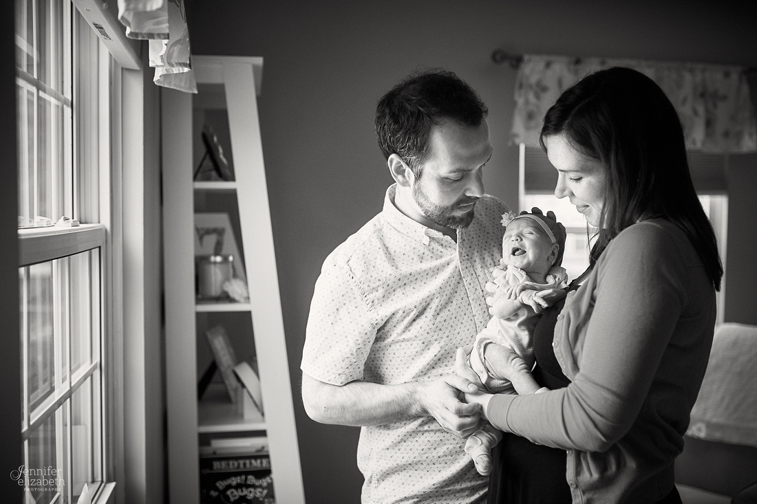 Zoey: Lifestyle Newborn Session in Cleveland