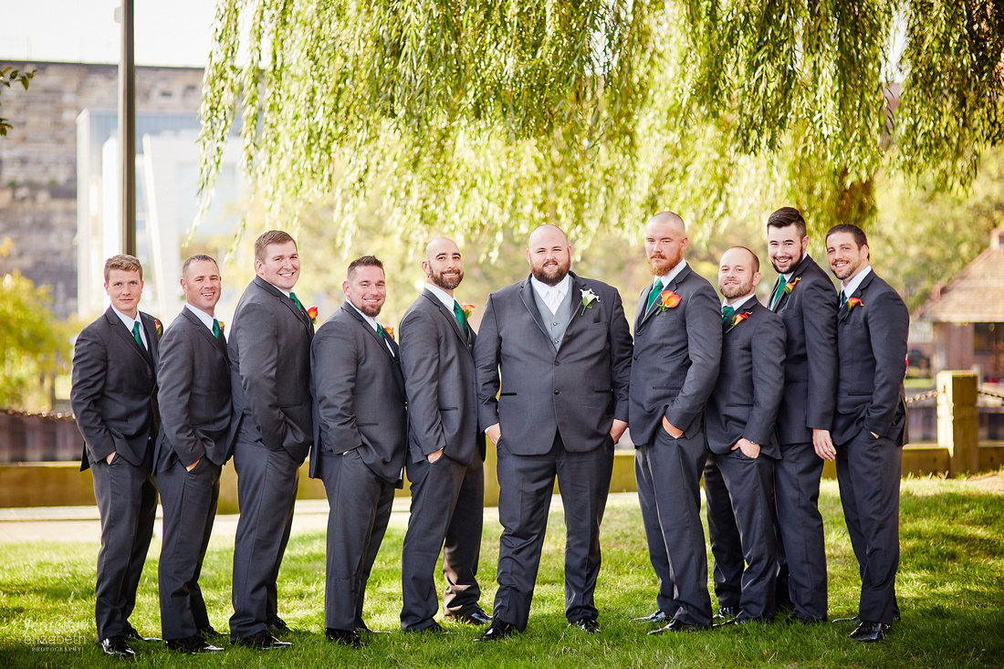 Megan & Rich's Fall Cleveland Wedding in Willoughby and The Flats