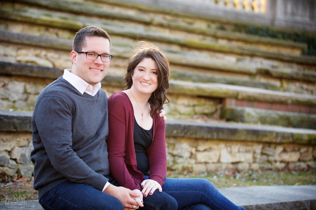 Heather & Jackson Engagement at Ohio State University