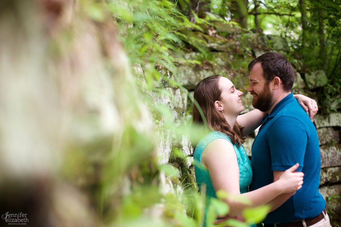 Erica and Trevor's Engagement Session in David Fortier Park
