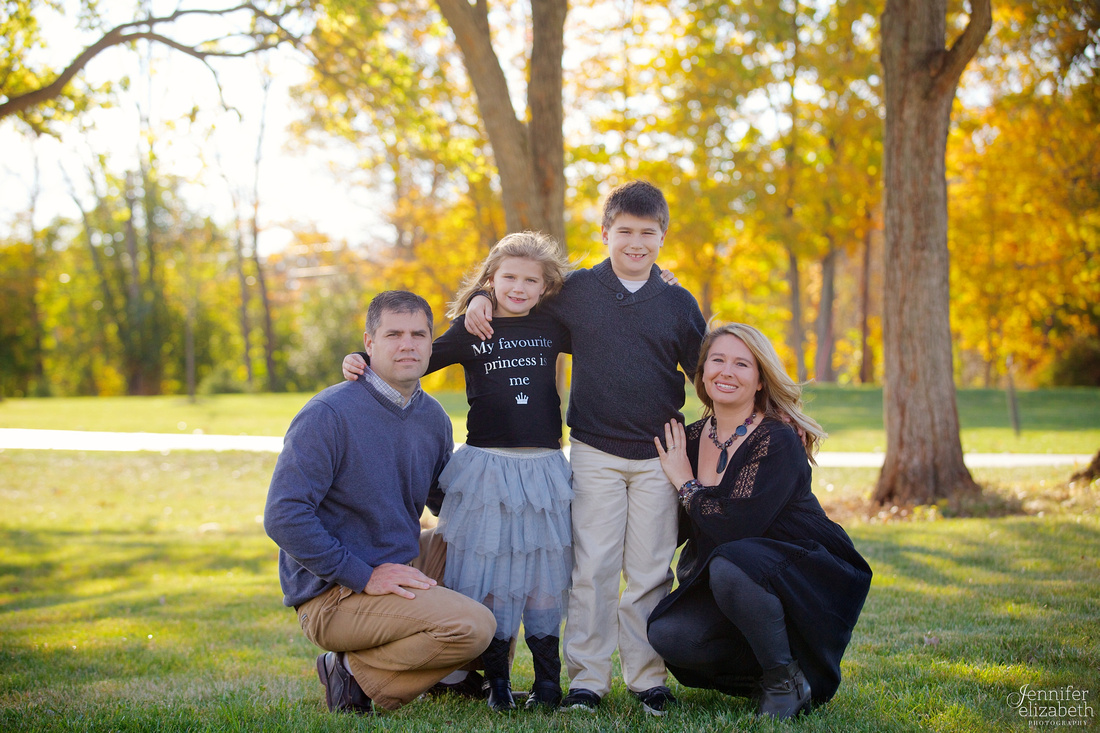 Fall Family Portrait Session in Granville, Ohio near Columbus