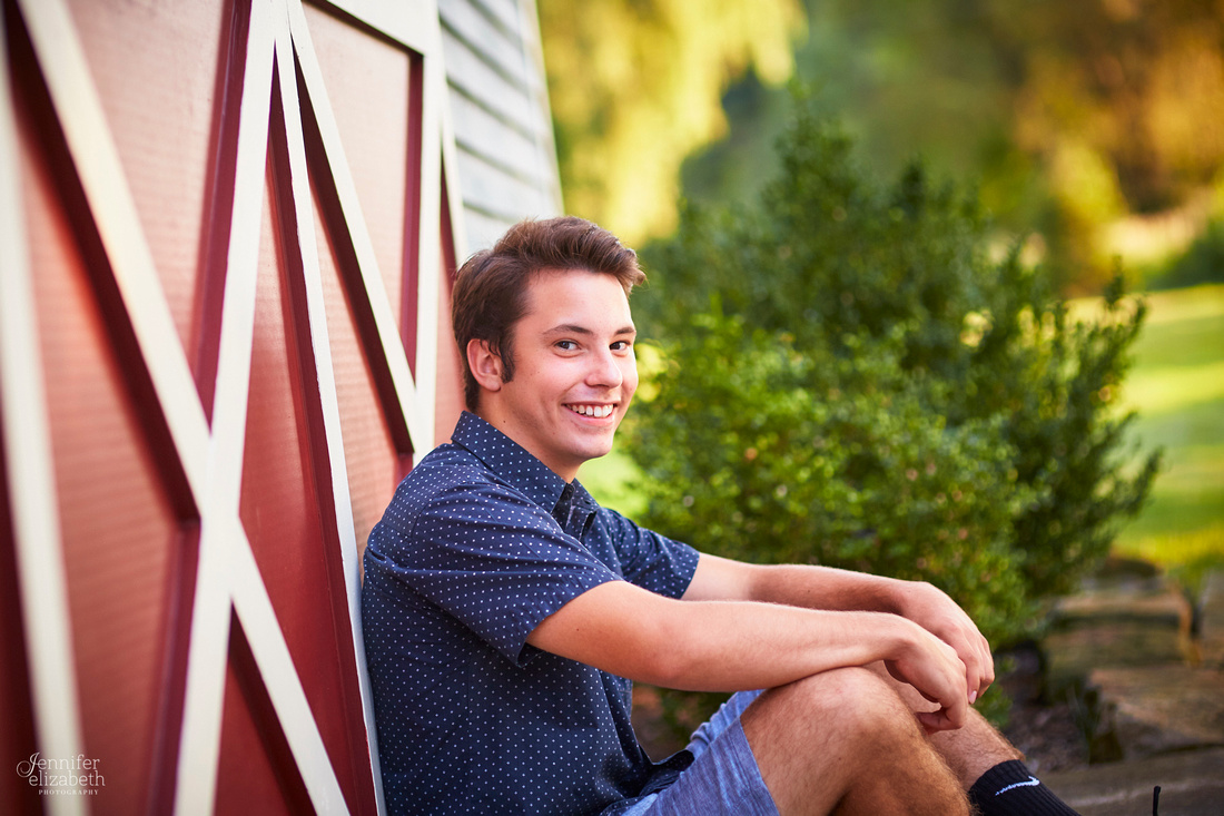 Ben's Senior Portrait Session in Chagrin Falls, Ohio