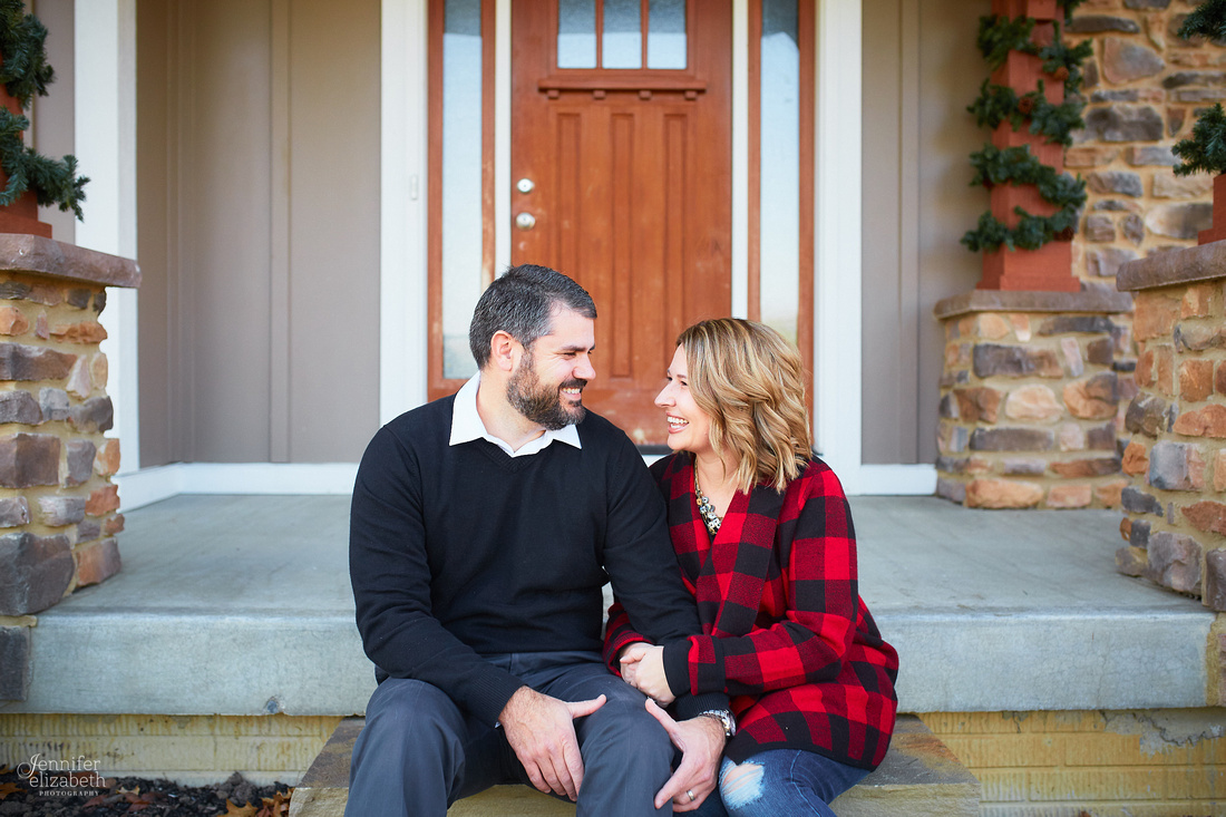 The L Family: Holiday Portrait Session in Granville, Ohio