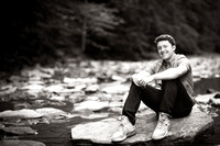 Senior Portrait Session at Squaw Rock in Chagrin Falls, Ohio