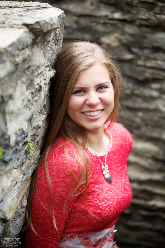 Olesya's Senior Session in Jeffrey Park in Bexley, Ohio
