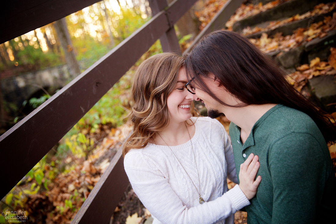 Tess and Adam's Engagement Portrait Session in Olmsted Falls, Cleveland