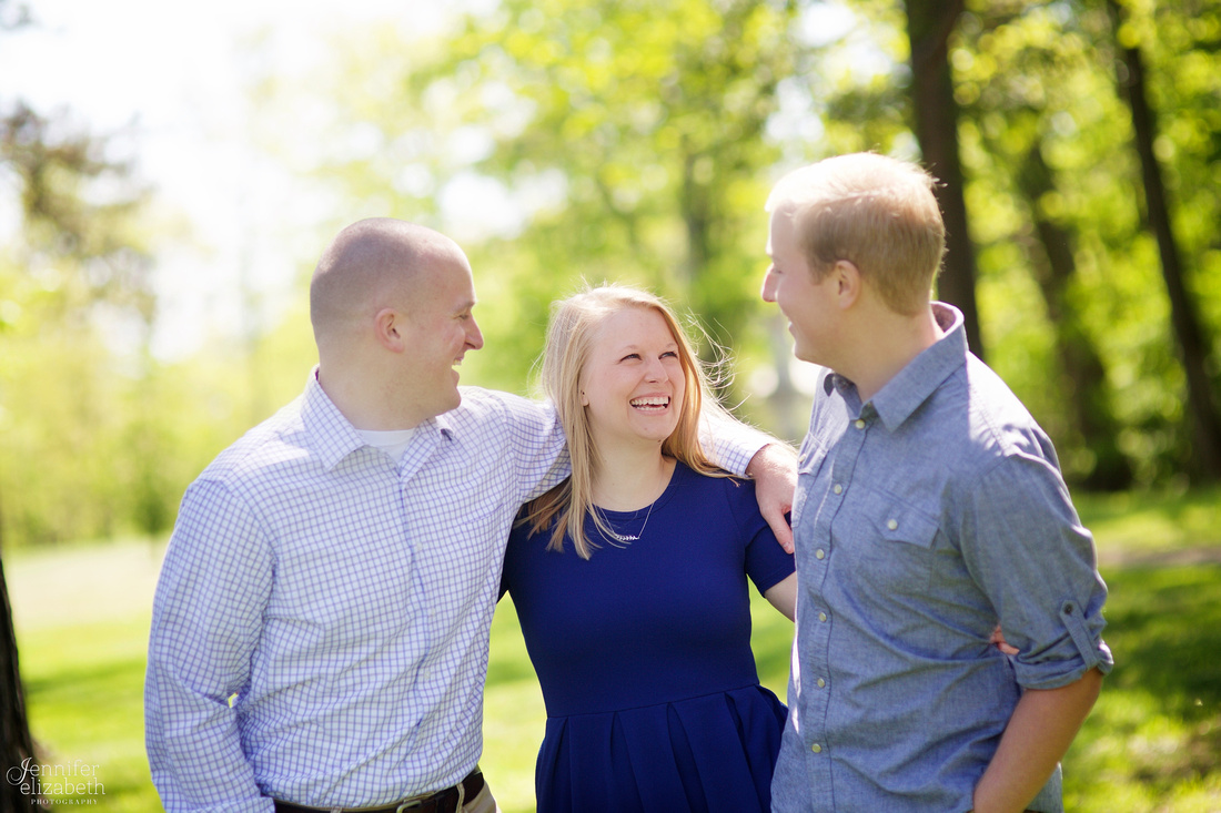 The D Family Portrait Session at Horseshoe Lake in Shaker Heights, Ohio