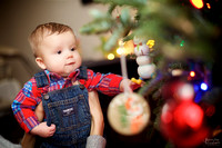 The V Family: Home Christmas Portrait Session in North Royalton, Ohio