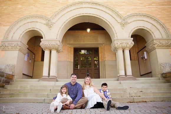 The L Family: Portrait Session at Denison University