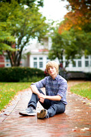 Sam: Senior Portrait Session in Worthington, Ohio