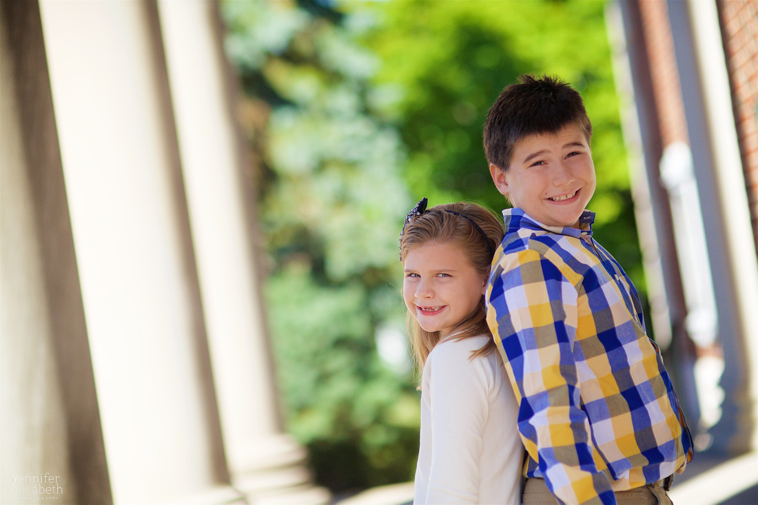 The L Family's Fall Portrait Session at Denison University Campus in Granville, Ohio